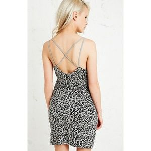 Urban Outfitters Surplice Wrap Leopard Print Dress